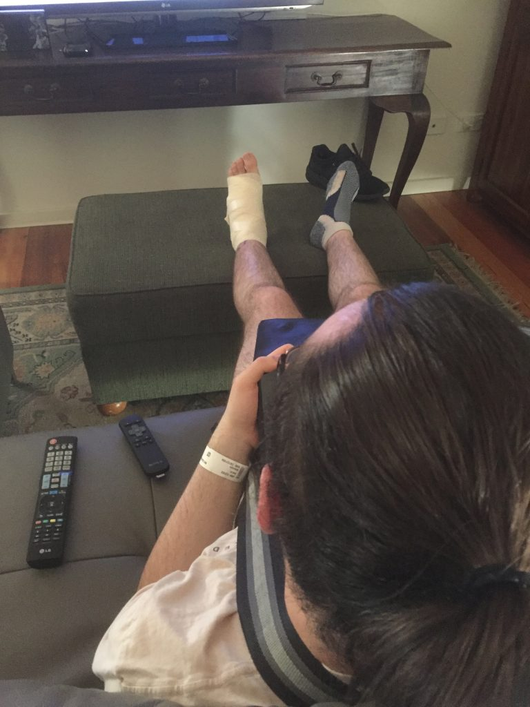 Ryan24 with a bandaged foot.