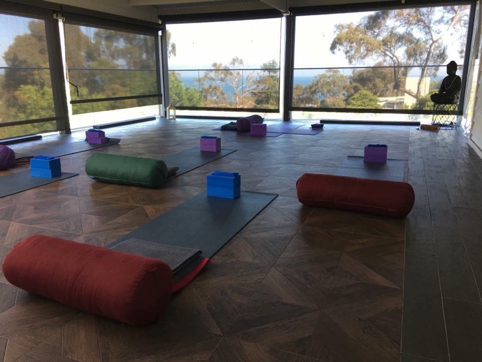 Yoga studio overlooking the bush.