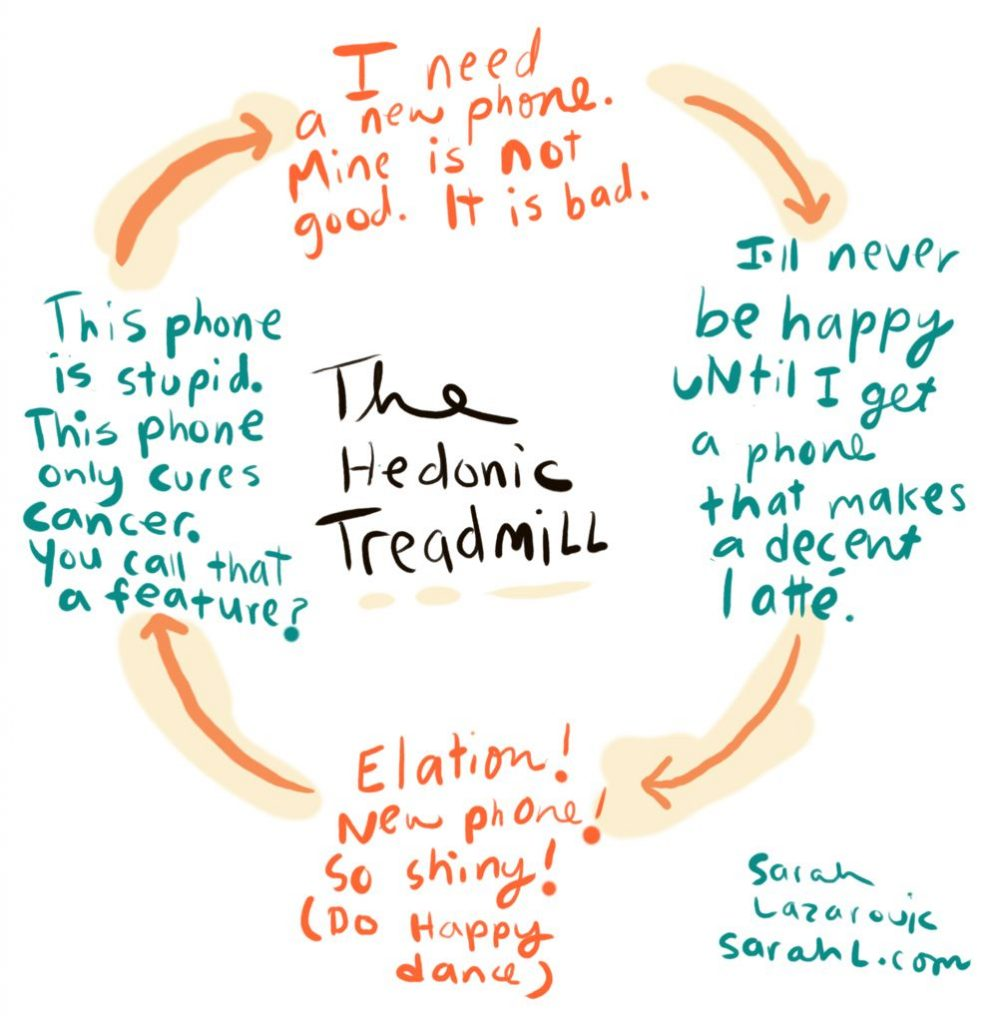 Flowchart for hedonic treadmill.