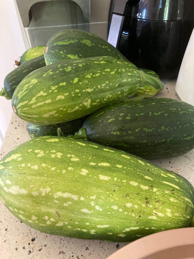 8 plump zucchini.
