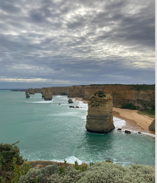 Clear view of the 12 Apostles.