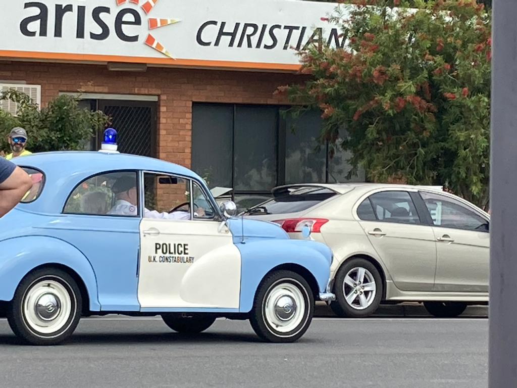 Cute cop car.