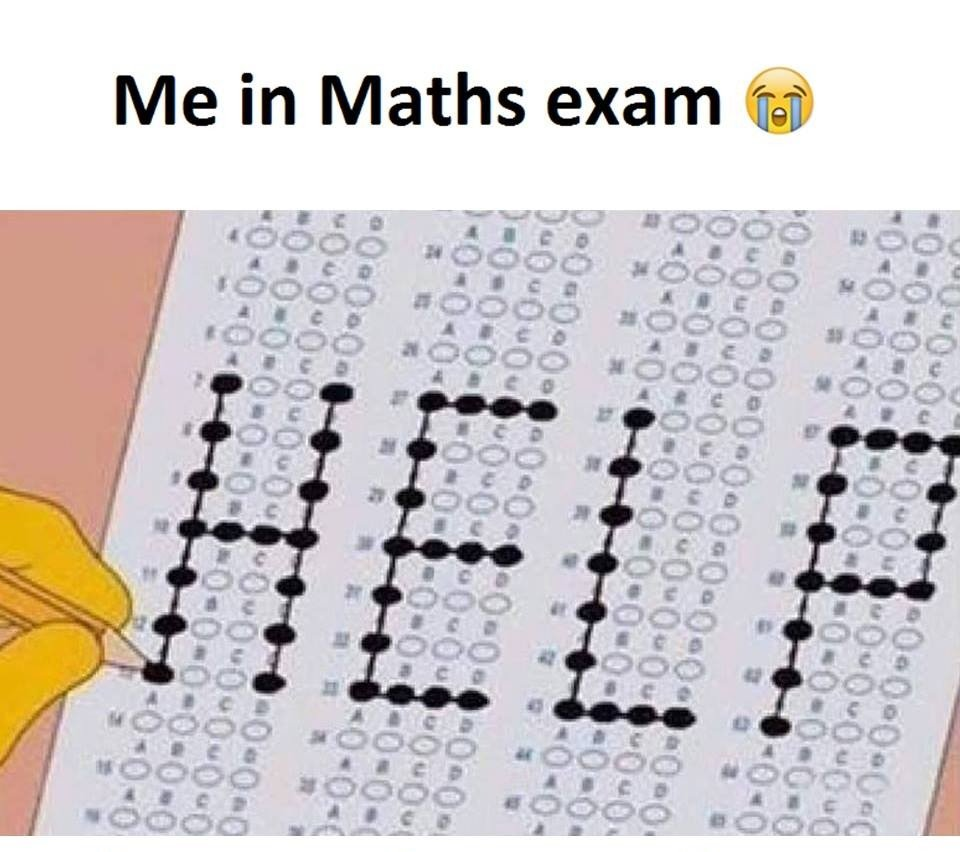 HELP written on test